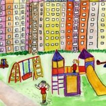 Развивающая детская игра — Мой двор