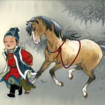 Подвижная парная игра — «Лошадки»