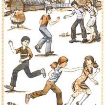Интересная детская игра — «Прерванные пятнашки»