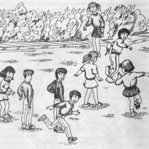 Подвижная детская игра — «Круговые пятнашки»