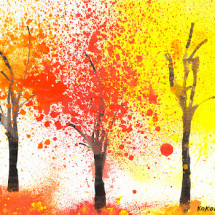 Развивающая игра — Разноцветная осень