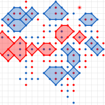Игра-противостояние на тетрадном листе — «Точки»