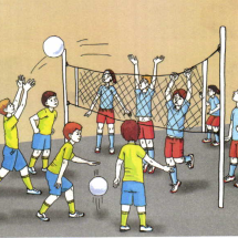 Детская игра — «Пионербол»