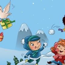 Детская игра — «Снежки»