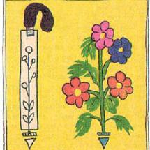 Детский фокус — Трость и цветы