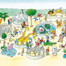 Развивающая детская игра — Кто как ходит