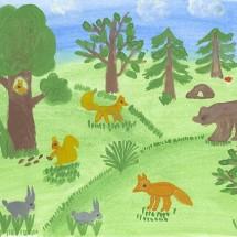 Развивающая детская игра — Лес на столе