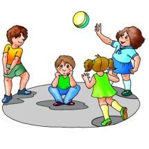 Детская игра — «Горячая картошка»