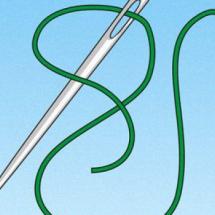 Детский фокус — Иголка с ниткой