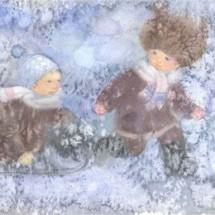 Детская игра — «Зимне салки-ёлочки»